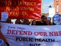 York banners on the NHS march