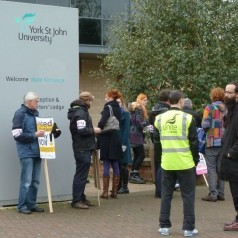Picket line at York St John