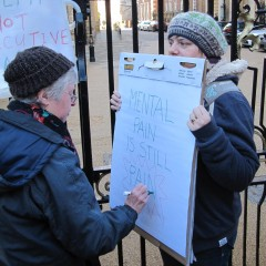 Mental Health budget protest