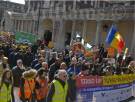 Anti Racism March in Whitehall