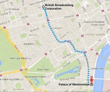 21st June Demo Route