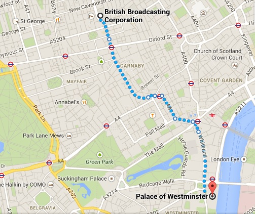 21st June Demo Route
