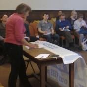 Linda Kaucher addresses the TTIP meeting